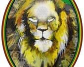 Lion of Judah Rastafarian Sticker