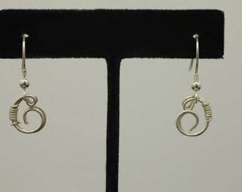 Wire twist Silver earrings