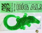 BIG AL alligator oversized novelty glycerin soap by Su Stella