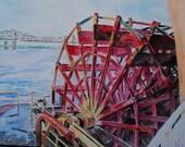 Paddle Wheel- PRINT by Su Stella FREE SHIPPING