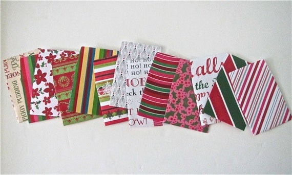 13 teeny tiny miniature square Christmas envelope note card sets mini stationery party favors weddings guest book table number