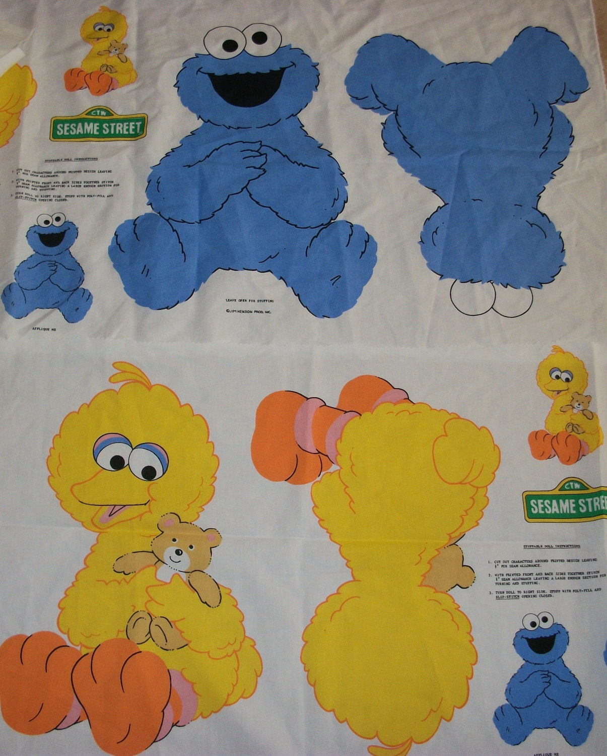 Baby Big Bird And Baby Cookie Monster One Of Each Character