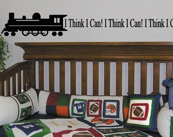 Train Decal I Think I Can Wall Lettering Vinyl Art Engine that could Wall Decal