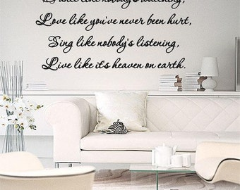 Wall Lettering Dance Love Sing Live