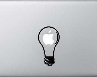 Light Bulb Mac Book Laptop Decal Vinyl Graphic