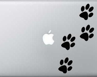 Paw Prints Mac Book Laptop Decal Vinyl Graphic