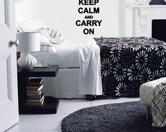 Keep Calm And Carry On Wall Lettering Vinyl Word Art