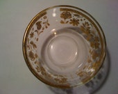 RESERVED FOR klambooy - Vintage Culver Ltd. Small bowl, Gold Flowers