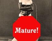Dominatrice et ses filles - intime érotique voeux / Note carte de MATURE