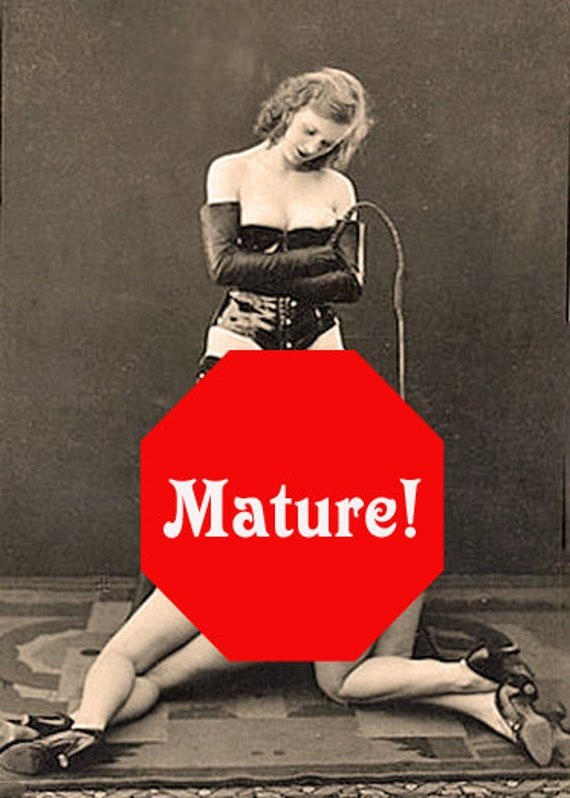 Dominatrix and Her Girls - Intimate Erotic Greeting / Note Card MATURE