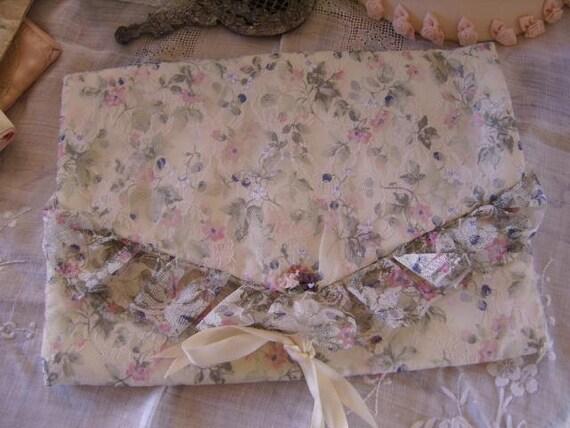 Vintage Lace Flowered Lingerie Bag Keeper-Wedding Bride Bridesmaid