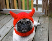 Dog Hat Little Devil  / Made to Order