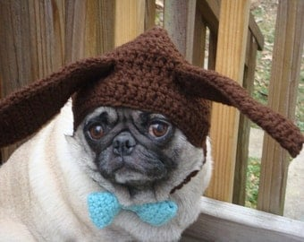 Dog Hat - Chocolate Ear Bunny Hat / Made To Order