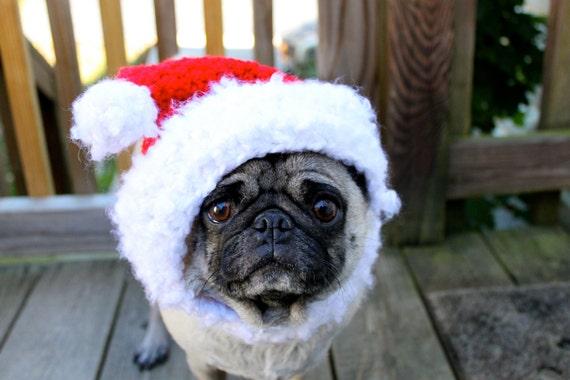 Dog Hat - Santa Christmas Cheer/ Made to Order