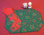 Handmade Fabric Christmas Placemats With Napkins - Vintage Tableware 8 Piece For The Holidays