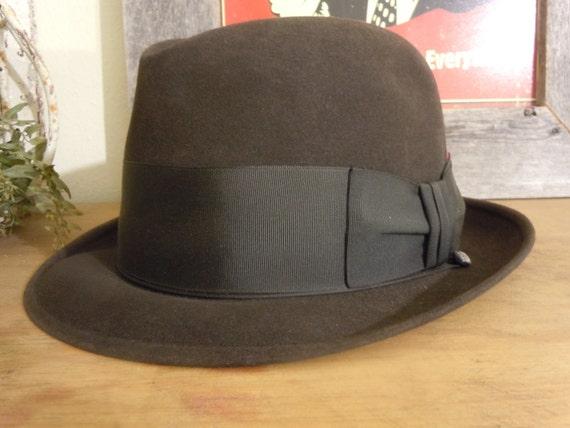 Mens Vintage Black Hat Knox Twenty Custom Edge / Fedora