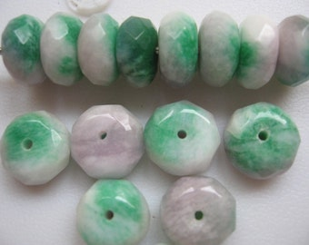 Jade Beads Cotton Candy 12mm Rondelle Beads QTY - 5