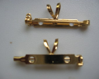 Vintage Gold or Silver Plated Combo Brooch Pendant Finding QTY - 1