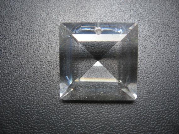 Vintage Swarovski Crystal Square Pendant 25x10mm Qty - 1 ONLY ONE