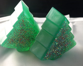 Christmas tree soap set of 2