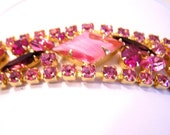 RESERVED FOR V Vintage Juliana Jewelry Pink DeLizza and Elster Vintage Bracelet BR5270