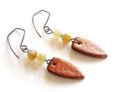 Earrings, Brown earrings, JP with Love jewelry, modern, fashion, tagt