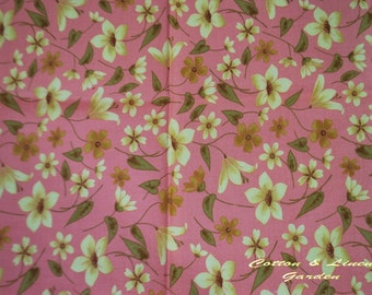 Korea Cotton Fabric - Little Yellow Flowers