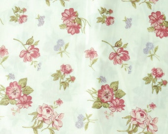 Cotton Fabric - Rose and Dandelion - 1/2 Yard