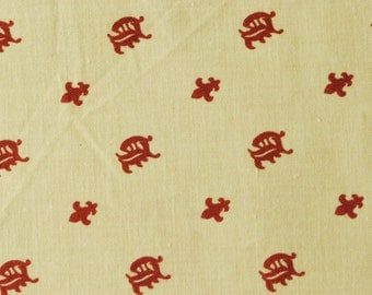 Cotton fabric - Family Emblem - 20in x 27.5in