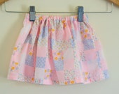 Floral Shabby Chic Baby Skirt size 6-12 months