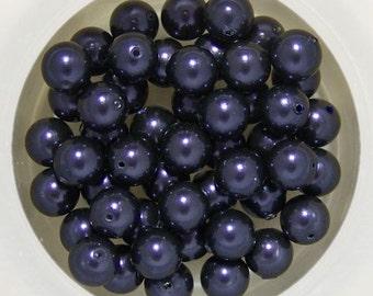 10 Dark Purple Swarovski Crystal Pearls