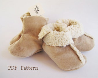 Baby bootie PDF sewing pattern / Baby / toddler boot pattern/ Little wraps 3 piece PDF