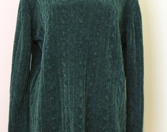 Forest Green Cable Knit Sweater