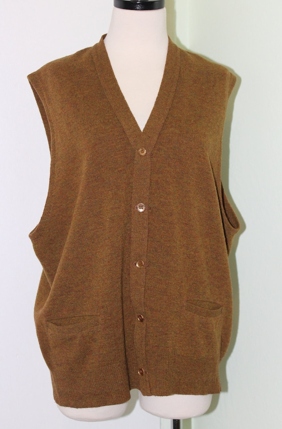 Brown button up sweater vest by mykindsyourkind on etsy