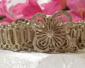 Vintage Silver Thai Flower Belt