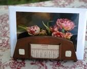 Vintage Perpetual Calendar Letter Holder Benedict Athenic Bronze Rare