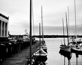 "Center for Wooden Boats - Docked (ready to frame, matted print 20x16"")"