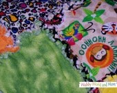 Jungle Animals Flannel Rag Blanket & Burp Rags - Shabby Collection