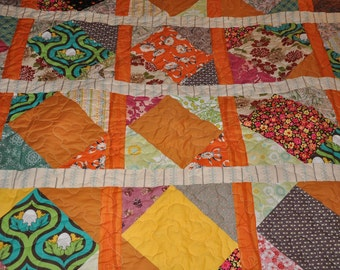 Patchwork Lap or Baby blanket