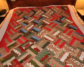 Geometric Christmas Quilt