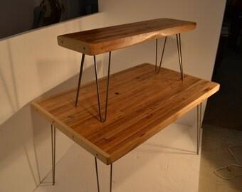 Reclaimed Maple Bench - Mid Century Modern Style / Hairpin Legs