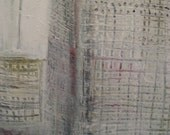 Texture in White, Original Abstract Painting