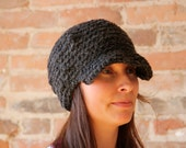 Dark Grey Thick Cab Wool Hat-Teen/Adult Size, Man or Woman