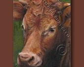 ACEO Original Cow