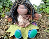 """Isabelle the forest sprite 13"""" organic doll waldorf inspired"""