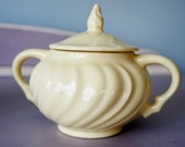 Buttercream Franciscan Coronado sugar bowl