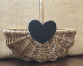 Wedding Flower Girl Basket, Lace, Burlap or Chalkboard Rustic, Chic Photo Prop