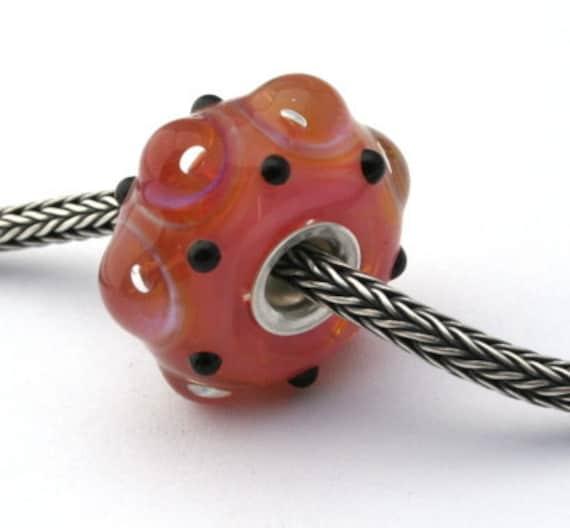Extra SALE... -50%... Silverglass dots - european charm jewelry
