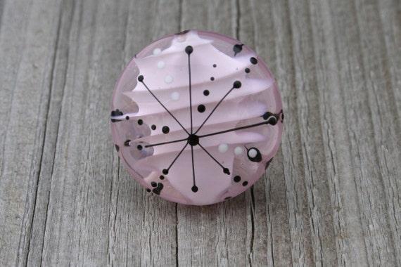 SALE... -10%... Satellite series pink - handmade lampwork focal - SRA