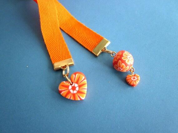 Funky heart ribbon bookmark